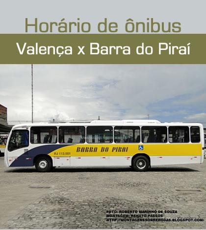 Valença x Barra do Piraí | Horário de Ônibus