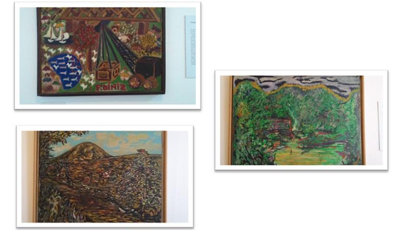 Algumas das telas dos clientes (pacientes) da Dra. Nise da Silveira expostas no Museu do Inconsciente, Antigo Hospital Psiquiátrico Pedro II.